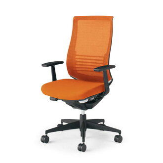 Kokuyo co., Ltd. Office Chair bezel Chair functional type lumbar support with fixed elbow black frame resin type back seat color CR-2823E6