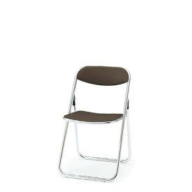 イトーキ 折りたたみ椅子 会議椅子 パイプイス テレスコピックリンク 肘なし アルミパイプアルマイト仕上げ脚(サークル脚) ビニールレザー KKA-280DD-Z9