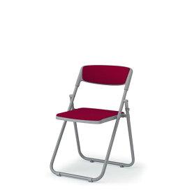 イトーキ 折りたたみ椅子 会議椅子 パイプイス 横連結 テレスコピックリンク 肘なし スチールパイプ塗装仕上脚(サークル脚) ビニールレザー KKA-390DD-W4