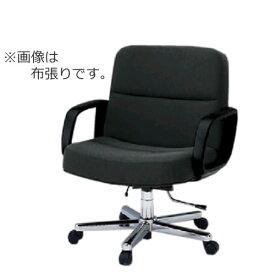 イトーキ K-8タイプ エグゼクティブチェア 社長椅子 役員椅子 ワイドサイズ ミドルバック 肘付 皮革 ガス上下調節 KWK-875LA
