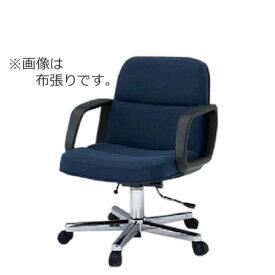 イトーキ K-8タイプ エグゼクティブチェア 社長椅子 役員椅子 ミディアムサイズ ミドルバック 肘付 布 ビニールレザー ガス上下調節なし KWK-896