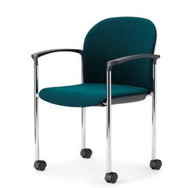 アイコ ミーティングチェア 椅子 会議チェア 肘付き キャスター脚 クロームメッキ 丸背タイプ MC-873