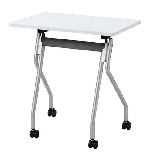 プラスチック天板パーソナルテーブル フラップネスティングタイプ TT-F12