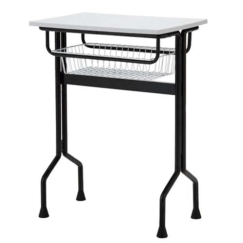 プラスチック天板パーソナルテーブル ワークテーブルタイプ 棚付 固定脚 TT-W15MG