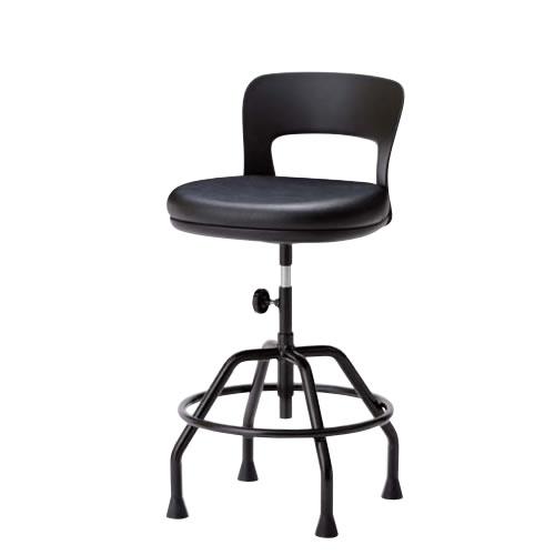 高作業用チェアー 作業用チェア 作業椅子 作業用椅子 手動上下調節 ワイドクッション座 高作業用チェア 固定脚CAW-KT6
