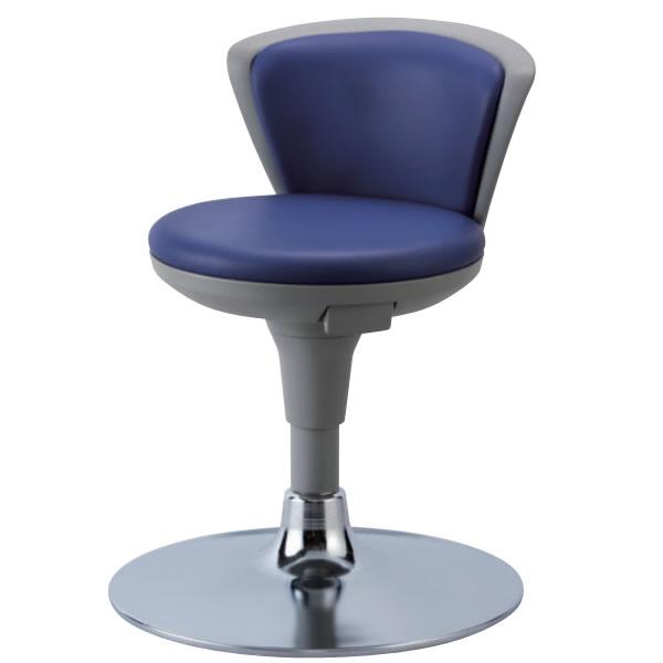 作業椅子 椅子スツール メディカルチェア TSS型 患者用チェア ガス上下調節 メッキ円盤脚 背付き TSS-14Z