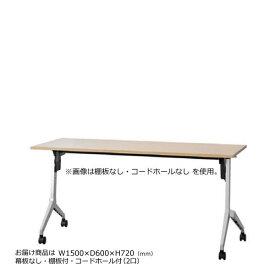 内田洋行 平行スタックテーブル 幅1500mm 奥行600mm ミーティングテーブル パラグラフ 幕板なし 棚板付 配線コードホール付き Paragraph 1560CT
