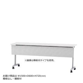 内田洋行 サイドスタックテーブル 幅1500mm 奥行600mm ミーティングテーブル パラグラフTL 幕板なし 棚板付 Paragraph TL 1560T