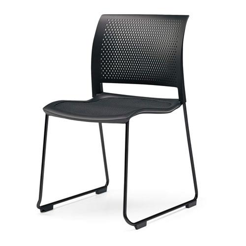コクヨ ミーティングチェア 会議椅子 会議チェア Spline スプライン サークル脚(ブラック塗装) 本体カラーブラック CK-360
