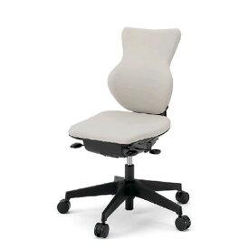 イトーキ カシコ オフィスチェア 背/樹脂シェルタイプ 肘なし 再生布地(GJ) ナイロン双輪キャスター KE-340GJ