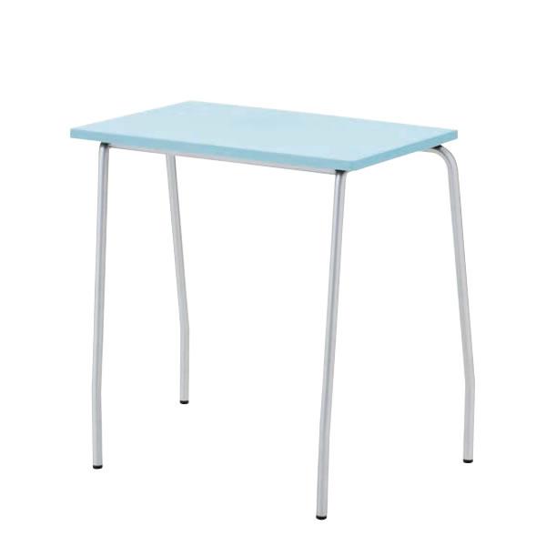 机 プラスチック天板パーソナルテーブル キャスターなし4本脚タイプ 会議用テーブル デスク TT-14F