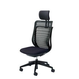 内田洋行 オフィスチェア 事務用チェア 事務椅子 エージェイ チェア 肘なし ヌードタイプ ヘッドレスト付 AJA-500BN