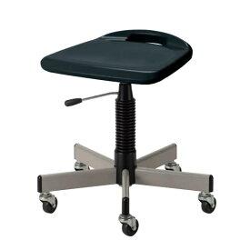 作業用チェア 作業椅子 作業用椅子 作業スツール 把手付ブロー座 ガス上下調節 キャスター付き HBS-W12L