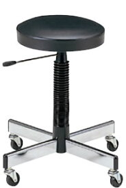 作業用スツール 椅子 ビニールレザー張り キャスター付き NOTL-5L