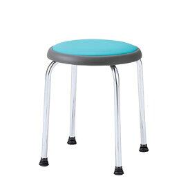 丸イス 丸椅子 パイプ 座固定 スツール 丸いす ビニールレザー張り 6脚セット R-720L