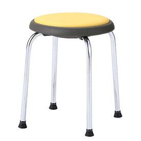 丸イス 丸椅子 パイプ 座回転式 スツール 丸いす ビニールレザー張り 5脚セット R-770L