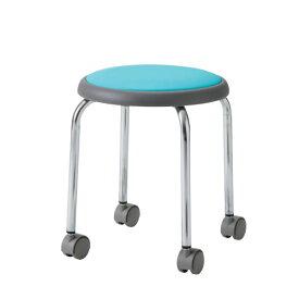 丸イス 丸椅子 パイプ 座固定 スツール 丸いす ビニールレザー張り R-720KL