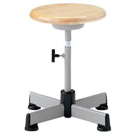 作業用チェア 作業椅子 作業用椅子 回転スツール 木製座タイプ キャスターなし NOT-5T