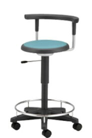 病院 診察イス 患者椅子 メディカル チェア 椅子 背付 リング付 キャスター付き NOTD-22KRN