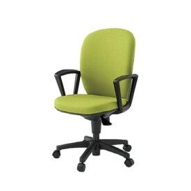イトーキ 椅子 リエット チェアー 事務チェアー オフィスチェアー 事務椅子 ハイバック 再生布地(GB) ループ肘 ナイロン双輪キャスター付 KFS-735GB