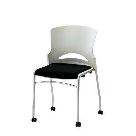 ミーティングチェア スタッキングチェア 会議用チェア 椅子 肘なし ルルコラ チェアー キャスター脚 背カバーなし LLC-12