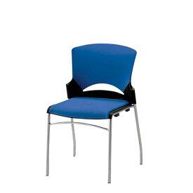 ミーティングチェア スタッキングチェア 会議用チェア 椅子 肘なし ルルコラ チェアー固定脚 背カバー付 LLC-21