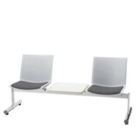 ロビーチェア 長椅子 肘なし テーブル付 2人掛け 待合 ロビー用椅子 タンデムロビーチェア LALC型 LALC-30D