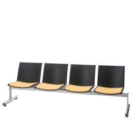 ロビーチェア 長椅子 肘なし 4人掛け 待合 ロビー用椅子 タンデムロビーチェア LALC型 LALC-40