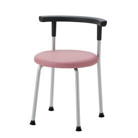 丸イス パイプ椅子 スツール 背付 固定脚 R-630