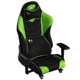 Bauhutte バウヒュッテ ゲーミングチェア ゲーミング座椅子 ハイバック フロアチェア GAMING FLOOR CHAIR グリーン色 GX-530-GN