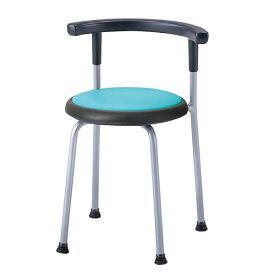 丸イス パイプ椅子 スツール 座固定 丸いす 背付 2脚セット ビニールレザー張り R-530L