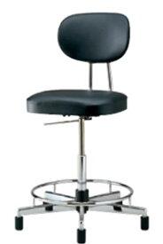 導電チェア オフィスチェア 事務椅子 作業用椅子 背付 固定脚 NOTL-ER17L