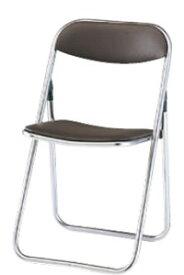 折りたたみチェア パイプ椅子 イス いす 5脚セット ビニールシート張り メッキ脚 TPL-39G