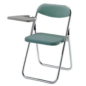折りたたみ椅子 パイプいす メモ台付きイス バネ座 チェア 布張り 3脚セット TPLT-39BC