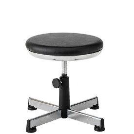 作業用チェア 作業椅子 作業スツール 椅子 手動上下調節 TMS型 背パイプ無 固定脚 TSM-33N