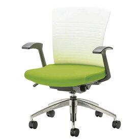 事務椅子 オフィスチェア 椅子 WITチェア 固定肘 アルミ脚 背パット無 WTS-50+WTS-AS