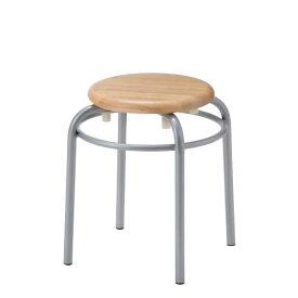 丸椅子 スツール 丸イス 丸いす パイプ 木製座 塗装脚 リング付き 高さ420mm R-TM920R