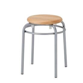 丸椅子 スツール 丸イス 丸いす パイプ 木製座 塗装脚 リング付き 高さ460mm R-TM960R