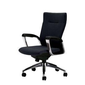 社長椅子 オフィスチェア 本革 サミットチェア ミドルバック 肘付き SMI-H6K
