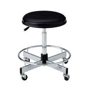作業用チェア 作業椅子 製図オペレーター カウンター用イス 椅子 ガス上下調節 キャスター脚 足掛けリング付き TD-B15LN-Z