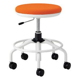 作業用チェア ハイタイプ 丸イス 作業スツール 丸椅子 椅子 座高ガス上下調節 キャスター付き 背無し リング付き TSM-W15