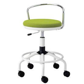 作業用チェア スーパーハイタイプ 丸イス 作業スツール 丸椅子 椅子 座高ガス上下調節 キャスター付き 背パイプ付き リング付き TSM-W18