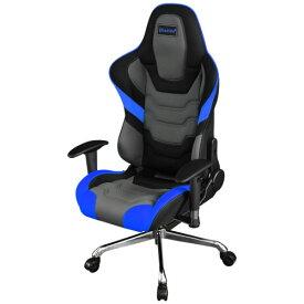 バウヒュッテ チェア エグゼクティブチェア ゲーミングチェア 可動肘付 ブルー×ブラック Bauhutte BE-RS-800RR-BU