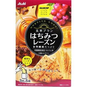 【送料無料】アサヒグループ食品 バランスアップ 玄米ブラン はちみつレーズン 3枚×5袋入