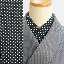 洗える半衿 半襟 ドット・白×黒 レトロモダン han15070