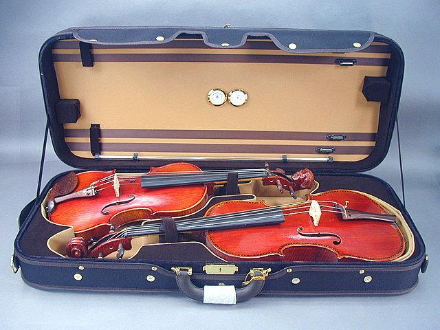 """バイオリン/ビオラ コンビケース Violin + Viola(15.5-16"""") Case"""