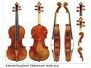 Stradivari 'Huberman' violin 1713 (バイオリン ポスター)