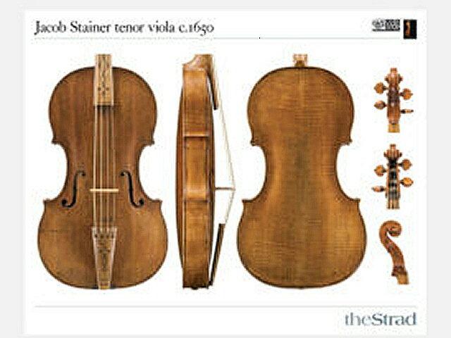 Jacob Stainer tenor viola c. 1650 (ビオラ ポスター)