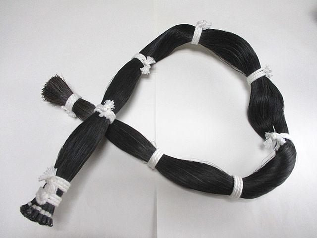 Black Bowhair Bundle 弦楽器弓用馬毛(1束):黒