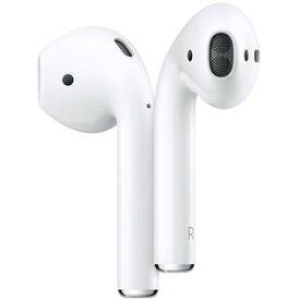 Apple アップル AirPods(第2世代)エアポッズ Bluetooth対応ワイヤレスイヤホンmv7n2j/a Bluetooth ペアリング うどん 白 ホワイト 充電器 ケース「充電有線タイプ」 [ラッピング対応可]